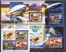 H236 2006 DE GUINEE AVIATION ZEPPELIN 1KB+4BL MNH - Zeppelins