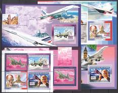 H237 2006 DE GUINEE AVIATION CONCORDE 1KB+4BL MNH - Airplanes