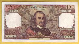 BILLET FRANCAIS - 100 Francs Corneille 7-2-1974 Presque NEUF - 100 F 1964-1979 ''Corneille''