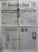 """""""GAZZETTA SERA"""" -QUOTIDIANO INDIPENDENTE-21-22 OTTOBRE 1946-SERVIZIO SULLA PARTITA TORINO-JUVENTUS (4 PAGINE ORIGINALI) - Libri, Riviste, Fumetti"""