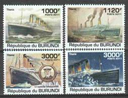 Burundi 2011 Mi 2170-2173 MNH TITANIC SHIPS - Boten