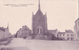 Carte 1930 LEGE / LE MONUMENT AUX MORTS ET LA CHAPELLE DE CHARETTE - Legé