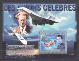 Comores 2009 Mi Block 509 MNH AIRPLANE CONCORDE - Airplanes