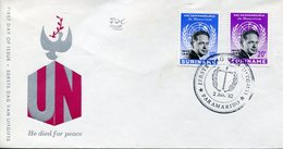 19413 Suriname,  Fdc 1962  Anniversary Of Death  Dag  Hammarsljold, Nobel Prize,  Prix Nobel - Dag Hammarskjöld