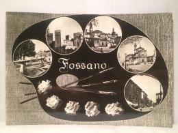 FX,COLLEZIONE,CARTOLINA POSTALE,POSTCARD,VIAGGIATA,EUROPA,ITALIA,PIEMONTE,FOSSANO,ANIMATA,PANORAMICA - Cuneo