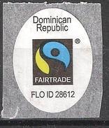 "Etiquette Fruit BANANE ""Fairtrade  FLO ID 28612   ""Dominican Republic / Republica Dominicana ; Banana / Platano, TB - Fruits & Vegetables"