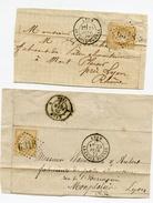RHONE De LYON LA CROIX ROUSSE GC 6318sur N°59 Sur 2 Devants De Lettres - Marcophilie (Lettres)