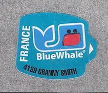 """Etiquette Fruit France POMME 4139 Granny Smith APPLE """" Blue Whale """" Illustrée Baleine TB - Fruits & Vegetables"""