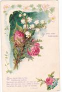 26169 Je Vous Aime Tendrement , Rose Muguet Lierre, Eglantine -poeme Blondet - Relief -ed 3329