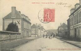 61-310 CPA  Ancienne Original  GACE Faubourg Des Champs  Animation Belle Carte - Gace
