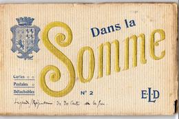 Dans La SOMME   -  Carnet De 20 Cartes Postales - War 1914-18