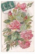 26170  Rose - Relief - JC Paris Série N - - Fleurs