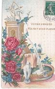 26171 Fontaine Rose Colombe Amour -pensée Bien Plaisir -relief - Sasns Editeur - Fantaisies