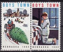 USA 1962 BOYS TOWN NEBRASKA Vignette Cinderella Charity Seals Seal Poster Stamp Label - Other