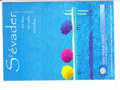 ILES-RESA. COM, S'évader En Duo, En Solo, Parasol, Ed. Carte Blanche - Publicité