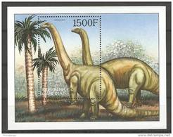 Gabon (2000) Yv. Bf. 104  /   Dinosaurs - Dinosaurios - Dinosaures - Dinosauros - Preistorici