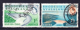 RHODESIE NYASSALAND 1960 YT N° 35 Et 36 Obl. - Rhodesia & Nyasaland (1954-1963)