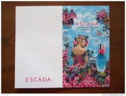 ESCADA Turquoise Summer Parfum Carte - Perfume Cards