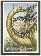 Gabon (2000). Yv. Bf. 107  /   Dinosaurs - Dinosaurios - Dinosaures - Dinosauros - Prehistorics