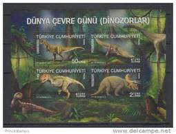 Turkey (2012) Yv. Bf. 62  /  Dinosaurios - Dinosaures - Dinosaurus - Dinosaurs - Vor- U. Frühgeschichte