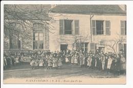 Carte De SAINT CHERON  école Des Filles ( Recto Verso ) - Saint Cheron