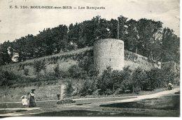 CPA -  BOULOGNE SUR MER - LES REMPARTS (1916) - Boulogne Sur Mer