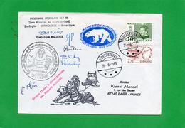 Pli Avec Plusieurs Cachets Et Signatures ( Programme  GROENLAND EST 2° Mission Au SCORESBYSUND ) - Timbres