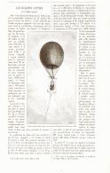 LES BALLONS CAPTIFS De L'armée CHINOISE   1887 - Transportation