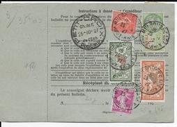 1927 - HAUT-RHIN - FORMULAIRE COLIS POSTAL D'ALSACE LORRAINE Avec TIMBRE FISCAL De MULHOUSE => AVIGNON (VAUCLUSE) - - Marcofilie (Brieven)