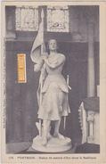 PONTMAIN STATUE DE JEANNE D'ARC DANS LA BASILIQUE - Pontmain