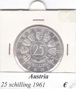 AUSTRIA   25  SHILLING   1961  COME DA FOTO - Autriche