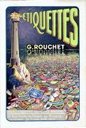 """Publicité De Fabriquants D'étiquettes à PARIS : G. ROUCHET 97 Rue Vieille Du Temple Et """"LE RELIEF"""" 159 Rue St-Martin - Publicités"""