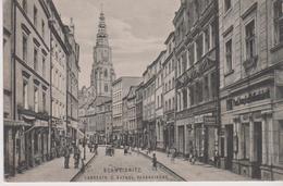 POLOGNE . SCHWEIDNITZ . Langestr. U. Kathol. Pfarrkirche ( Ets P. Glaubitz / E. Fuchs)+ Au Dos Cachet Militaria Allemand - Pologne