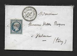 Tarn Et Garonne - P.C.  2027  Et  Cachet Type 22  MONCLAR DE QUERCY - Marcophilie (Lettres)