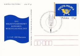 Poland Postal Stationary 1995 XVI Miedzynarodowy Kongres Weksylologiczny W/special Postmark (T11-14) - Entiers Postaux