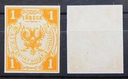 Altdeutschland Lübeck 1862 * Mi.Nr.7 Ungummiert Echt !    (R97) - Luebeck