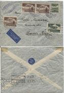 CSR Luftpostbrief Morchenstern (Böhmen) 31.3.37 > Buenos Aires, Frankatur #308(3),305,303. Der Brief Ist Senkrecht Mitti - Poste Aérienne