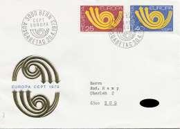 EUROPA Brief 1973, 25 + 40 Cept, Ausgabe Tagesstempel - Autres - Europe