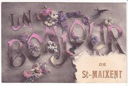26184 Un Bonjour De Saint St Maixent - Sans Ed - Saint Maixent L'Ecole