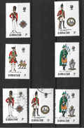 Gibraltar Military Uniforms, Series 2 MNH Complete And Used Except 7d (4385) - Gibraltar