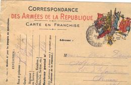 Carte En Franchise Militaire 1915 . - Cartes De Franchise Militaire