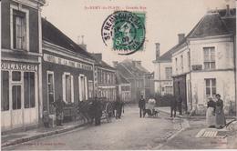 Sarthe : ST  REMY Du PLAIN : Grande  Rue ( Boulangerie-hotel De La Pomme, Charette) - Francia