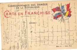 Carte En Franchise Militaire  1914 6 1918 . - Marcophilie (Lettres)