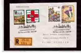 TEM9108   -   BRUCK AN DER LEITHA 21.4.89/ REGISTERED COVER WITH INTERESTING POSTAGE -  750 JAHRE STADT - Briefmarken