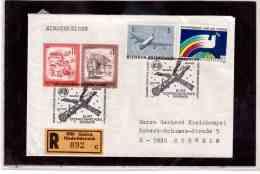TEM9143  -   GMUEND  5.3.88 / REGISTERED COVER WITH INTERESTING POSTAGE -  10 JAHRE UdSSR-KOSM.POSTAMT - Europa