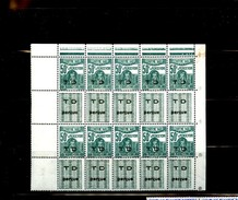 Tunisia 50F Overprinted T D Percue Postage Dues Block Of 10 With Gutter Pairs MNH WYSIWYG A04s - Transkei