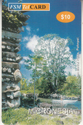 MICRONESIA - Nan Madol Ruins, Pohnpei, FSM Tel Prepaid Card $10, Used - Micronésie