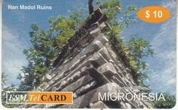 MICRONESIA - Nan Madol Ruins, FSM Tel Prepaid Card $10, Used