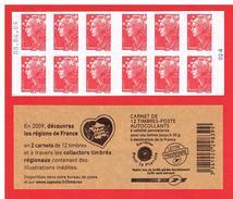 FRANCE - 2009 - CARNET N° 4197-C 10 -AVEC DATE - NEUF** NON PLIE -  Marianne De BEAUJARD - TVP - Y&T - COTE: 25.00 Euros - Definitives