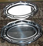 2 PLATS EN ACIER INOX - Plats